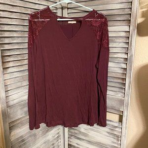 Maurices Wine Tunic Top 1x